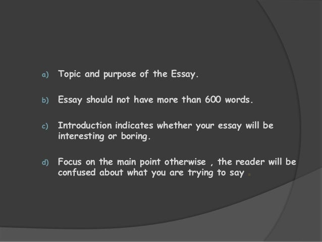 Confused about an essay question ?