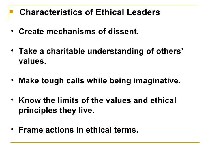 Leadership and Ethics Academic Essay
