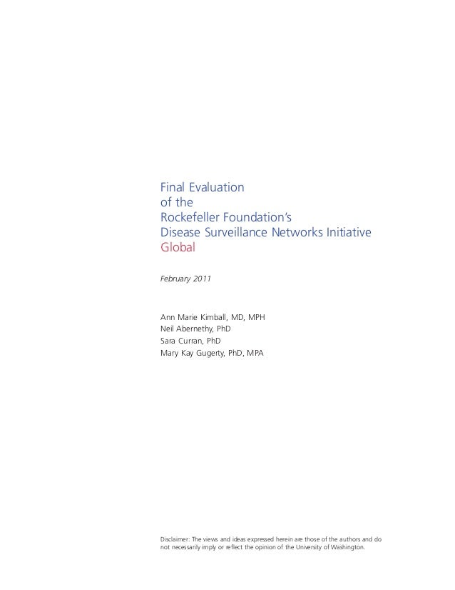 Final Evaluation - Disease Surveillance Networks Initiative Slide 2