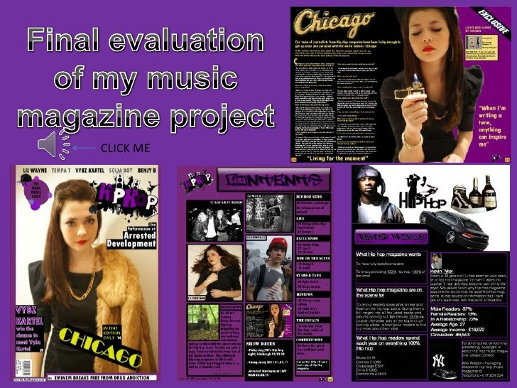 Final evaluation of my music magazine project<br />CLICK ME<br />