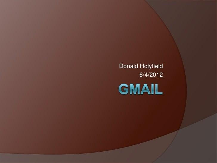 Donald Holyfield       6/4/2012