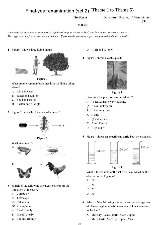 Final-year examination (set 2) (Theme 1 to Theme 5)                                                               Section ...