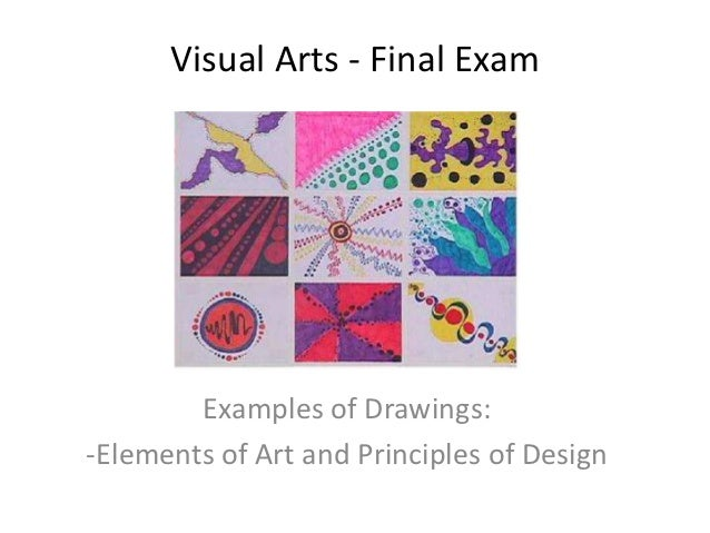 Principles Of Visual Arts : Final exam elements principles drawings