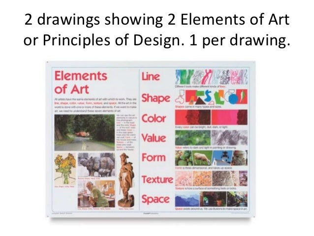 Elements Of Art Drawing : Final exam elements principles drawings