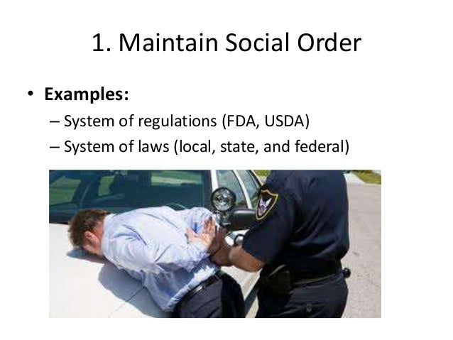 maintaining social order examples