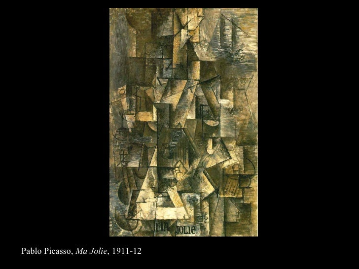 Pablo Picasso,  Ma Jolie , 1911-12
