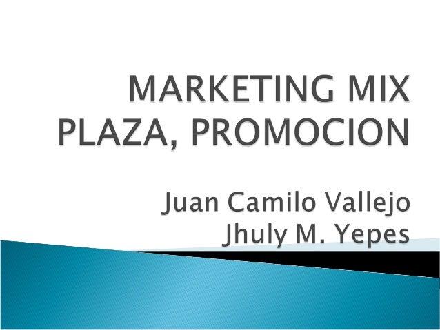 MARKETING MIX (MEZCLA DE MERCADEO) ORIGENES: El concepto de Marketing mix fue introducido en los años 50´s por Neil H. Bo...