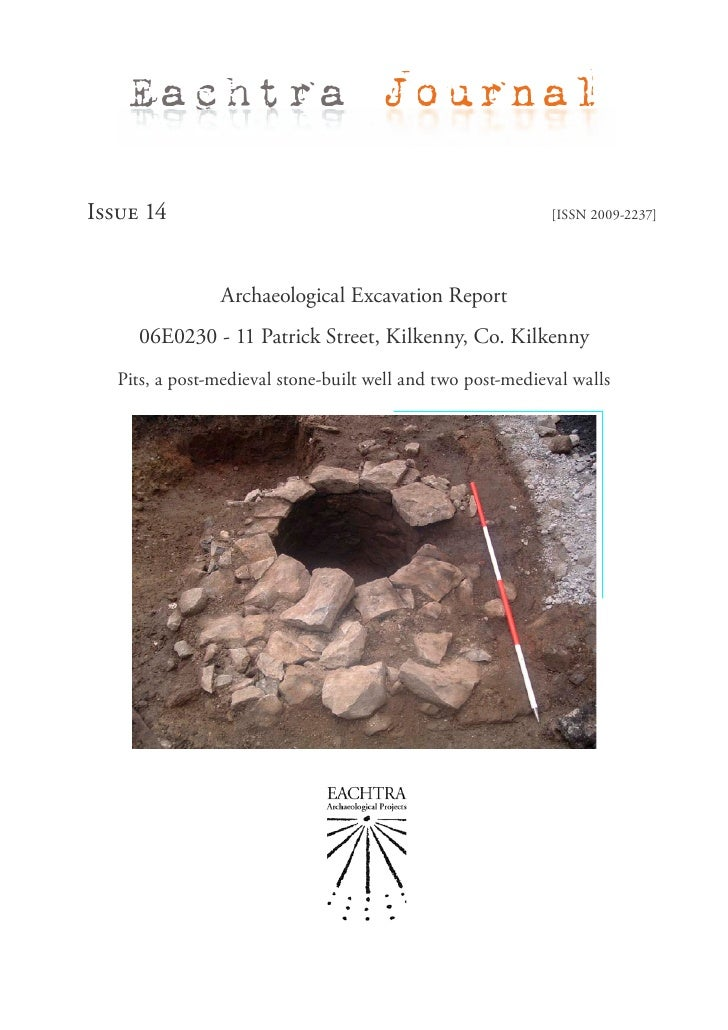 Eachtra JournalIssue 14                                                     [ISSN 2009-2237]                Archaeological...
