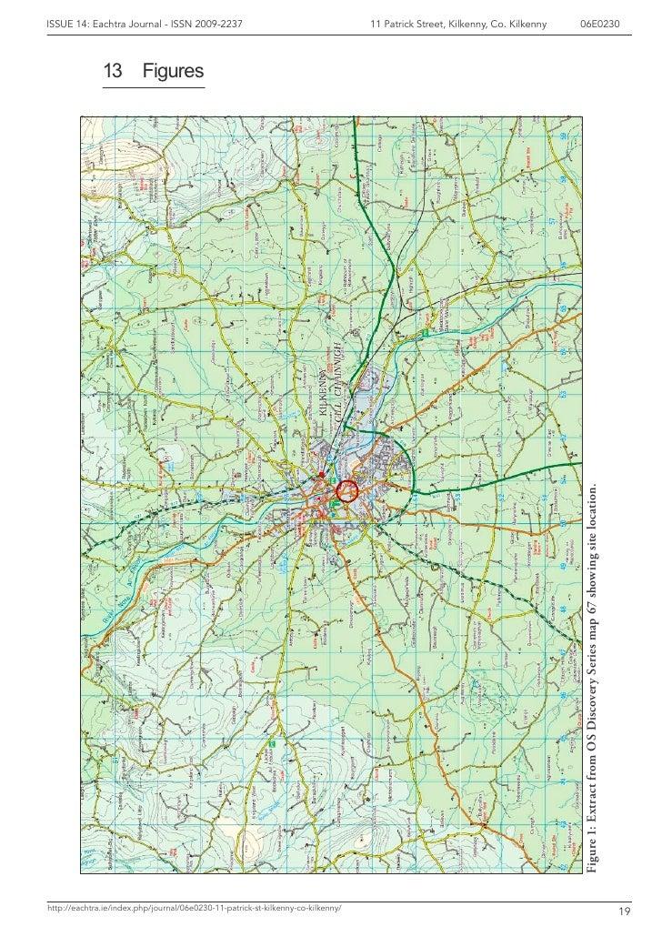 Map Of Ireland Showing Kilkenny.Archaeological Report 11 Patricks St Kilkenny Co Kilkenny Irela