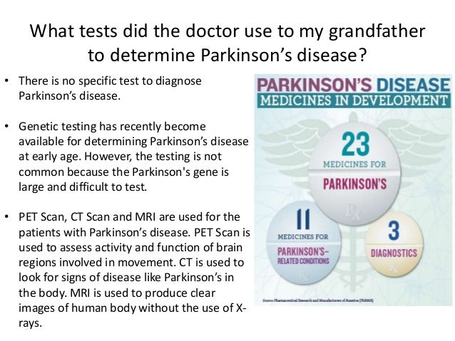parkinson s disease case study Parkinson's disease (pd) specialists have long debated the potential value of parkinson's-specific physical therapy all great medical debates are usually settled.