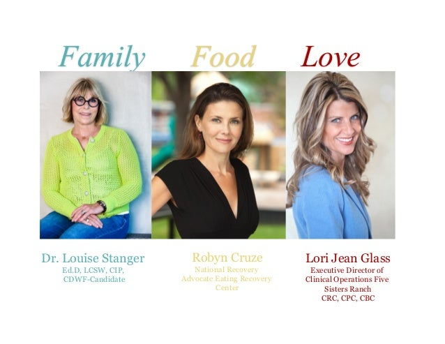 Thank you! Family Food Love Lori Jean Glass Executive Director of Clinical Operations Five Sisters Ranch CRC, CPC, CBC Dr....