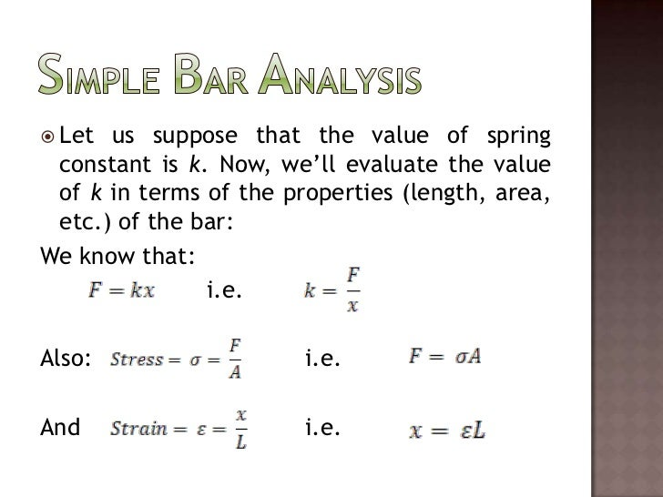 Let us suppose that the value of spring constant is k. Now, we'll evaluate the value of k in terms of the properties (leng...