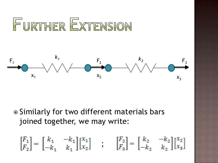Similarly for two different materials bars joined together, we may write:<br />                                     ;<br /...
