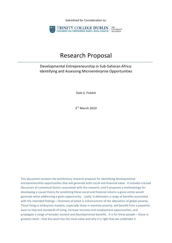 Guidelines for PhD Research Proposal