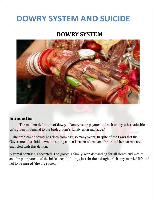dowry and suicide