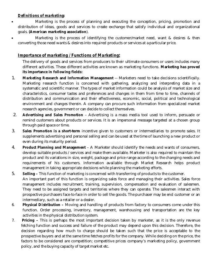 strategic marketing management definition pdf