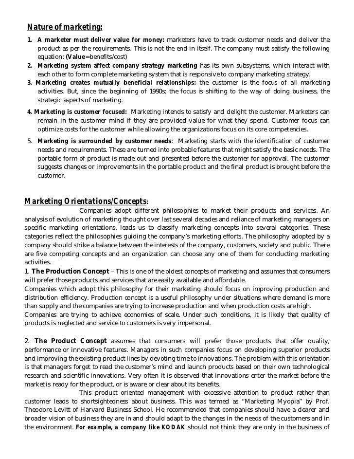 Thesis on marketing management pdf