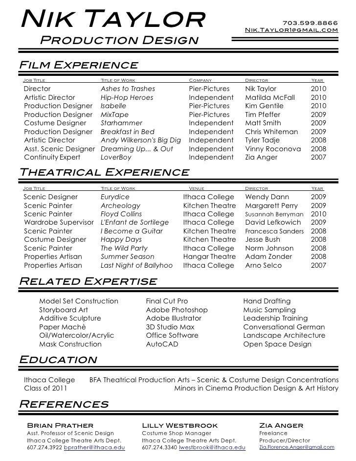 Film Production Assistant Resume. film production assistant ...