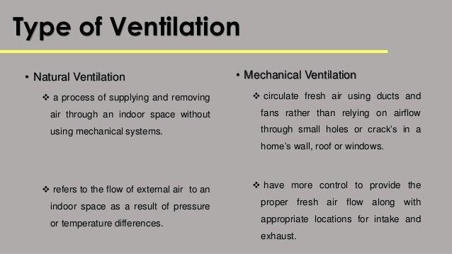 Types Of Ventilators : Building services