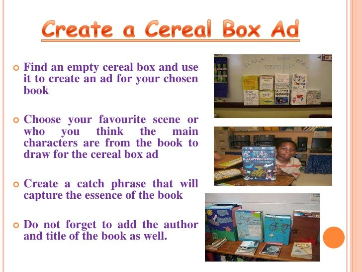 Final final book reports shoe box book covercereal character box 11 ccuart Image collections