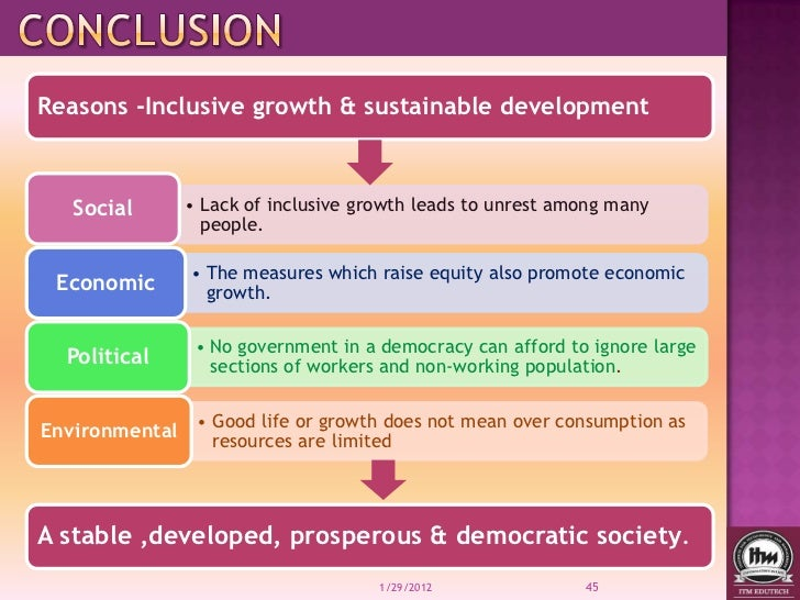 inclusive growth and sustainable development of   constructive role 45