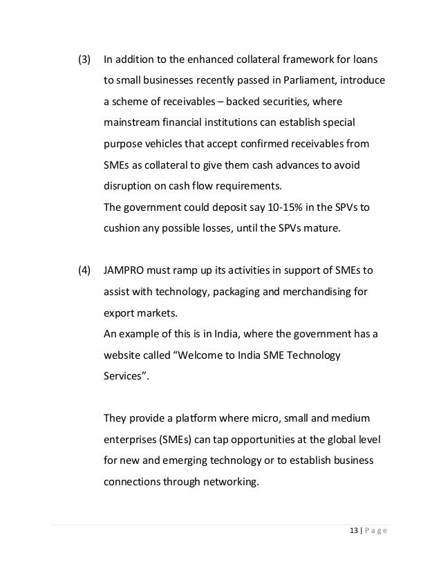 practical government policies to address growth in the sme sector ja 13