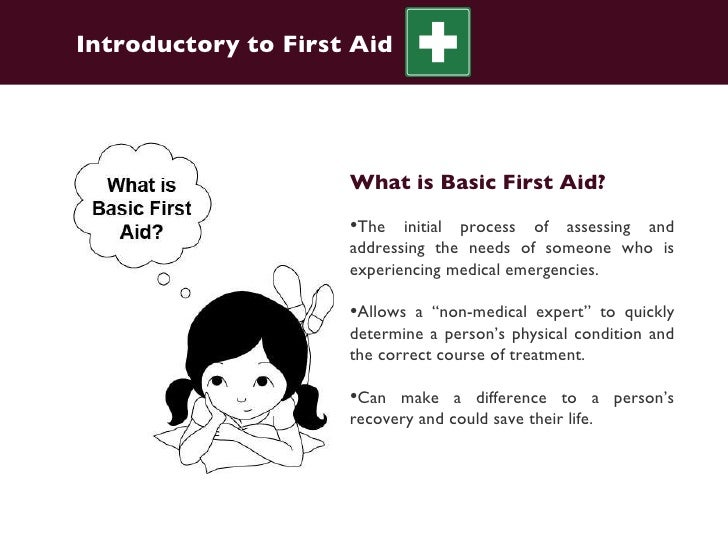 what is first aid essay Table of contents what is first aid how to practice first aid recovery position cardio-pulmonary resuscitation (cpr) first aid is vital for saving lives a person can carry out first aid after a life-threatening incident or injury before the arrival of emergency services.