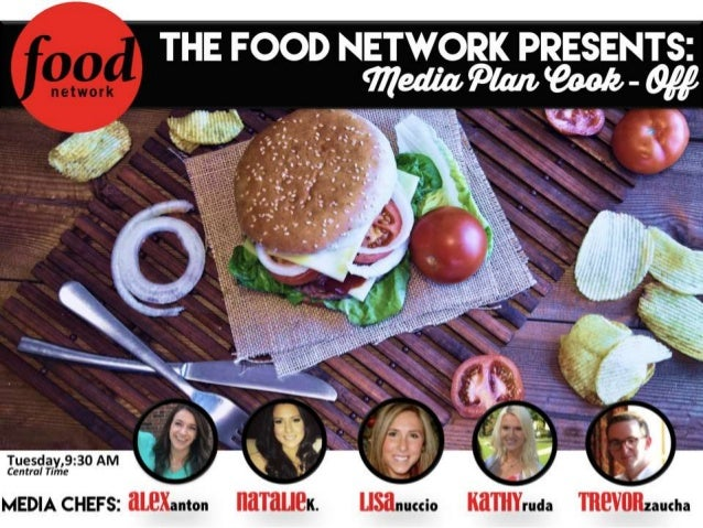 THE FOOD NETWORK PRESENTS:   Tuesday,9:30 AM Central Time  usanucci Kamruda mevflnzaucha  I awxanton  MEDIA CHEFS