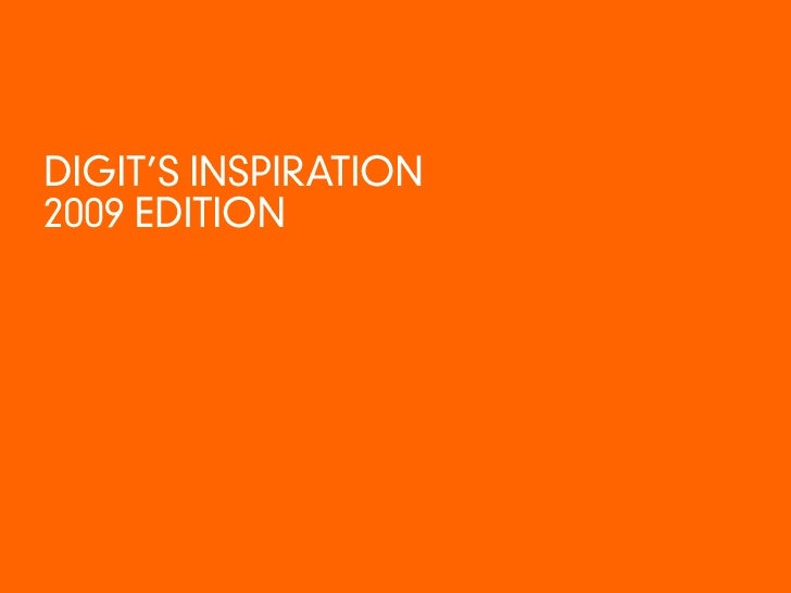 DIGIT'S INSPIRATION 2009 EDITION<br />