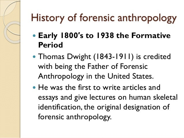 forensic essay Forensics how accurate is dna evidence fingerprints read forensic science articles on the successes and limitations of identification techniques.