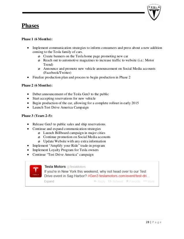Tesla marketing plan pdf