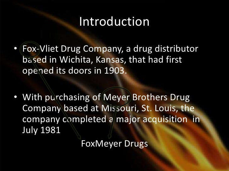 erp implementation at foxmeyer drugs Case 1 : foxmeyer drugs erp implementation case 1 : foxmeyer drugs why this project is a failure case 1 : foxmeyer drugs lessons learned case 2.