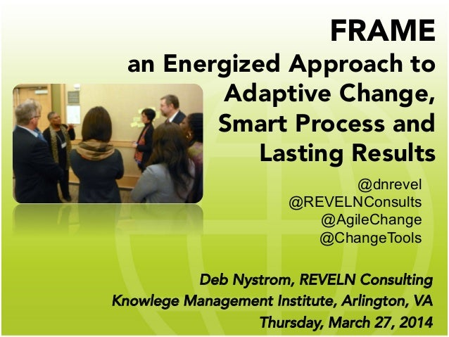 FRAME an Energized Approach to Adaptive Change, Smart Process and Lasting Results  Deb Nystrom, REVELN Consulting Knowlege...