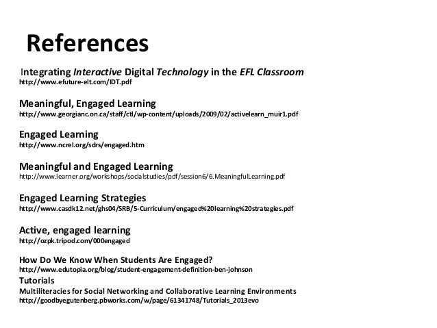 Interactive Technology to Enhance Engaged Learning