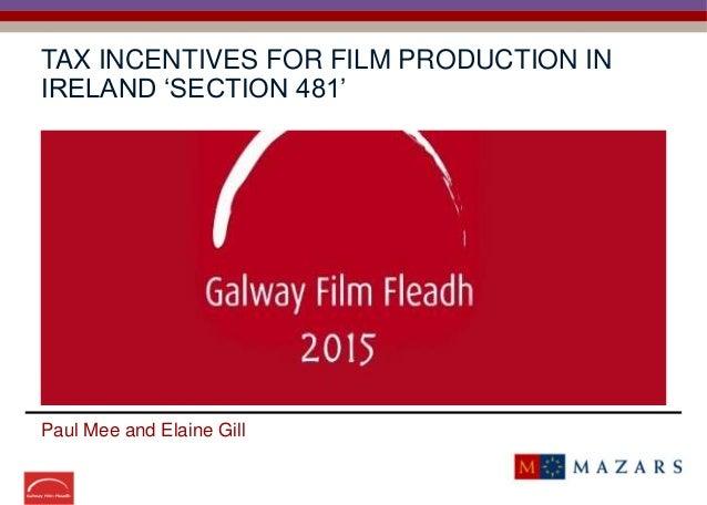 galway film fleadh tax credit