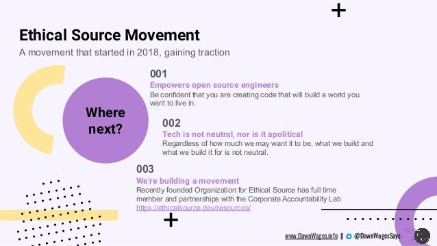 + + . . . . . . . . . . . . A movement that started in 2018, gaining traction 001 Empowers open source engineers Be confid...