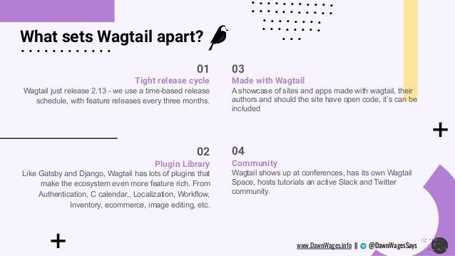 + What sets Wagtail apart? + . . . . . . . . . . . . . . . . . . . . . . . . . . . . . . . . . . . . . . . . . . . . . . ....