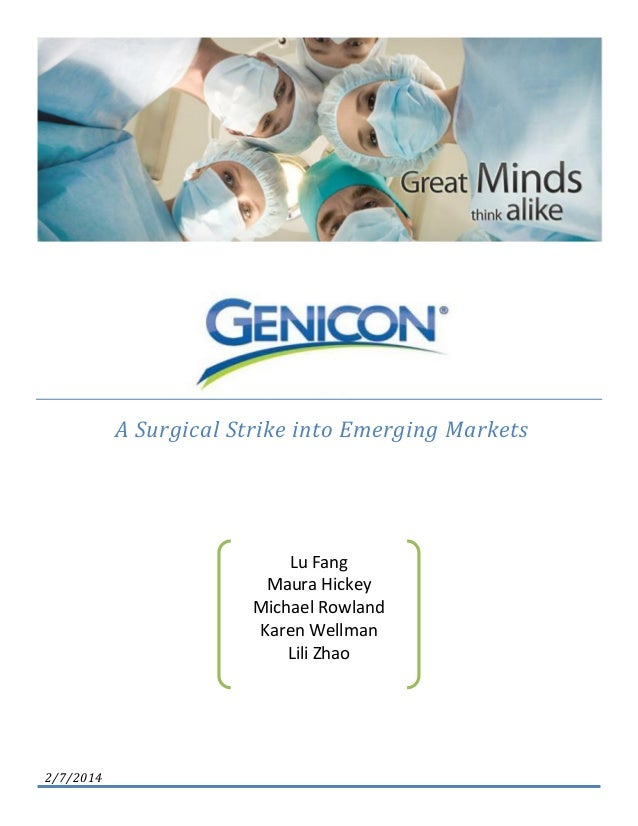 genicon a surgical strike into emerging markets Genicon: a surgical strike into emerging markets  to further enhance instructors' use of cases in marketing management, we have created an instructor teaching.