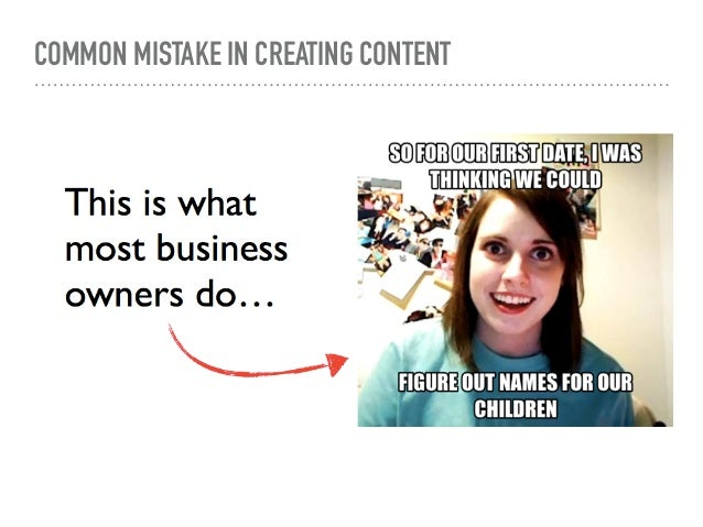 COMMON MISTAKE IN CREATING CONTENT