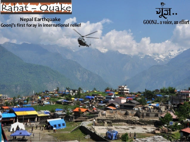 Nepal Earthquake Goonj's first foray in international relief