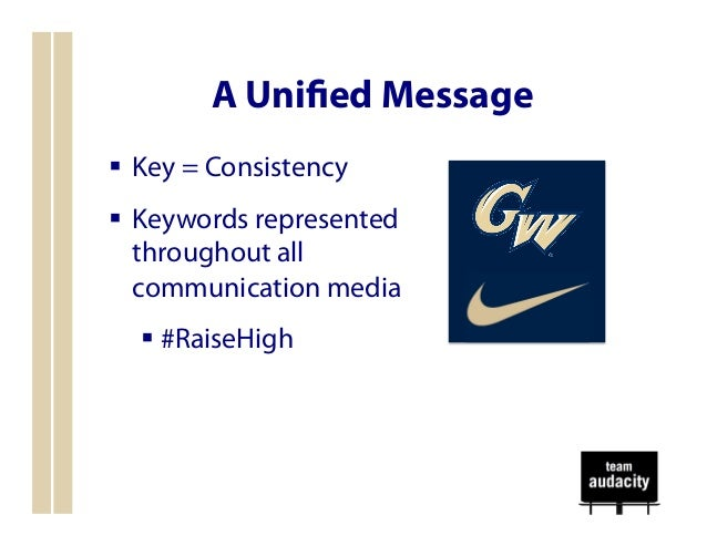 nike intergrated marketing communication plan Fundamentals of an integrated marketing communication plan this document is intended to provide a general guide to students in bus 134b, integrated marketing.