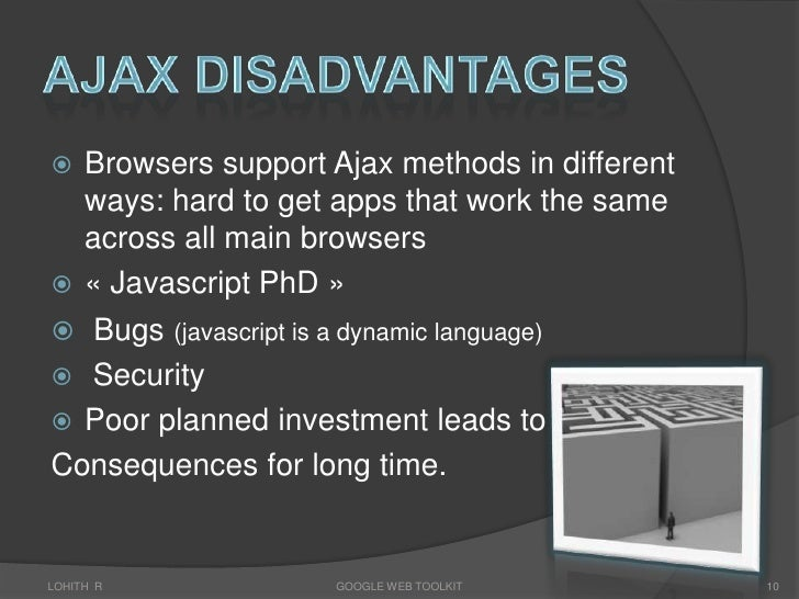 the application performance of ajax applications over optimized xml networks Using ajax to improve the bandwidth performance of web applications the application consists of a typical page layout with a central section containing the changing content the header, footer and navigation menu do not change during the application operation.