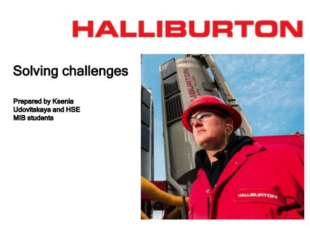 Financial Analyst of Halliburton