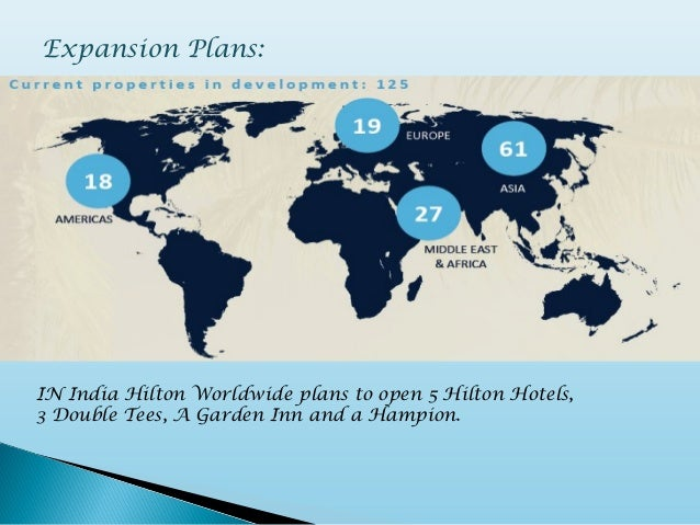 Hilton Hotels - Hilton properties map