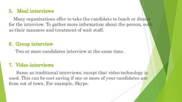 Advantages and disadvantages of different types of interview structure.