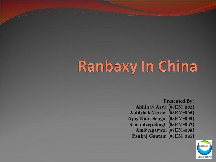 Presented By: Abhinav Arya (08EM-002) Abhishek Verma (08EM-004) Ajay Kant Sehgal (08EM-005) Amandeep Singh (08EM-007) Amit...