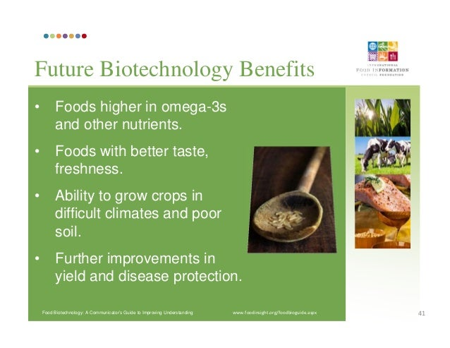 advantages of biotechnology in food