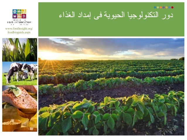 الغذاء إمداد فى الحيوية التكنولوجيا دور www.foodinsight.org/ foodbioguide.aspx