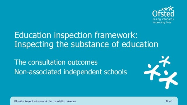Education inspection framework: Inspecting the substance of education The consultation outcomes Non-associated independent...