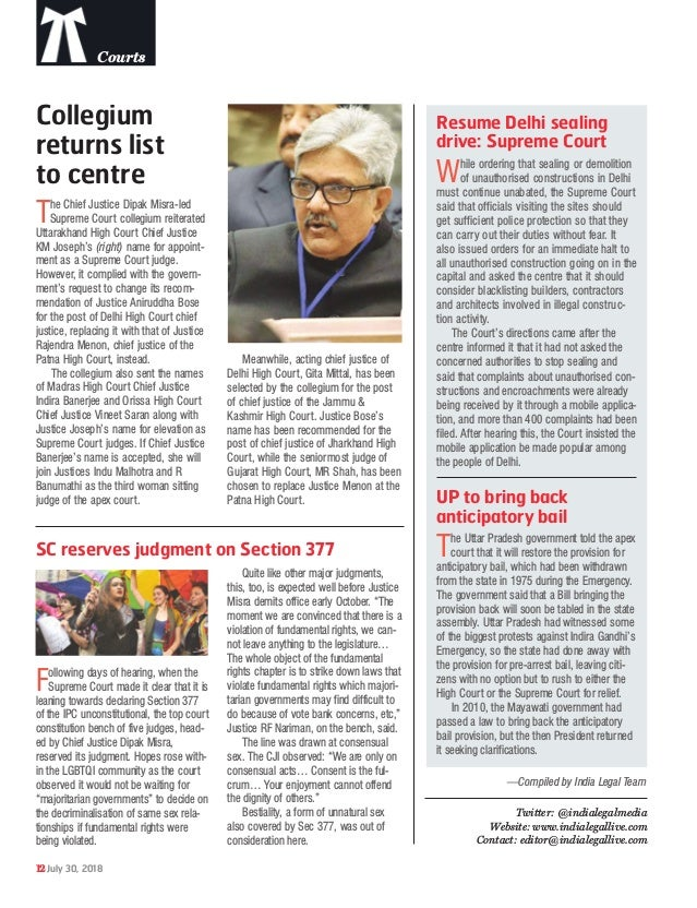 India Legal 30 july 2018